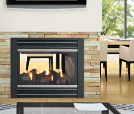 Regency Panorama P121 Two Sided Gas Fireplace