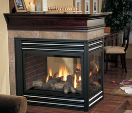 Regency Panorama P131 Three Sided Gas Fireplace - Fireplace