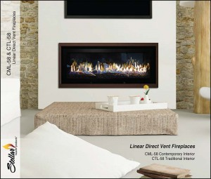 Stellar Hearth CML 58 Contemporary Gas Fireplace