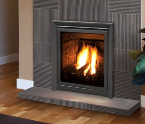 dimensions gas fireplace insert corner small