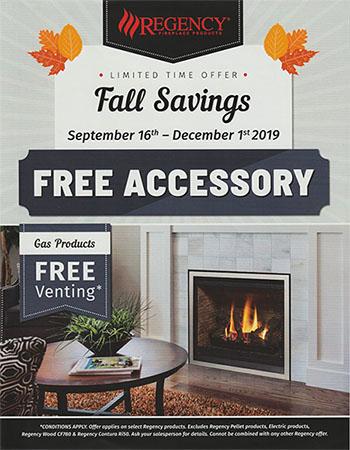 Regency Fireplaces Fall sale 2019